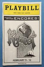 KISMET (Encores!) Playbill w/ Brian Stokes Mitchell, Marin Mazzie, Tom Aldredge