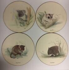 Jason Table Placemats Australian Animals Round Set of Four Cork Koala Glider