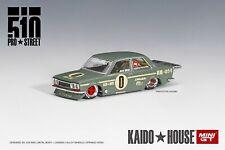 Mini GT No KHMG001 1/64 Kaido House Datsun 510 Pro Street Green MIB