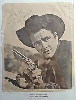 "RARE Vintage Signed Dick Jones ""West"" Actor Photo Signature Autograph Pinocchio"