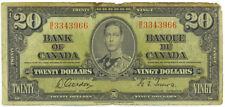 Bank of Canada 1937 $20 Twenty Dollars Gordon-Towers B/E Prefix Fine+