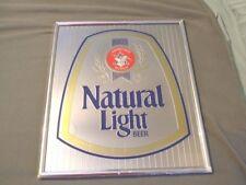 Anheuser Busch Natural Light Beer Mirror Sign Eagle Logo St. Louis Missouri