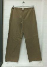 """Toast Camel Brown Wide Leg Pure Cotton Trousers High Waisted Size 12 L 30"""" (Yar)"""