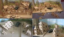 28mm grande ville de ruines (définit un b c et d fourni) wargame scenery bolt action
