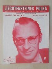 VINTAGE 1957 SHEET MUSIC - LIECHTENSTEINER POLKA - BIG BEN BANJO BAND