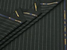 GUABELLO 'SEVEN' SUPER 150S WOOL CHARCOAL SUITING FABRIC 1.95M - MADE IN ITALY