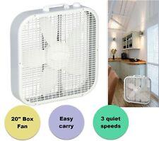 20 in. 3 Speed Box Fan Portable Desk Lightweight Fan Electric Floor Stand Quiet
