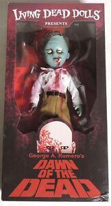 ESAR2129. Living Dead Dolls DAWN OF THE DEAD Flyboy Zombie Doll by Mezco (2017)