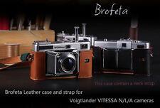 Brofeta leather case/bag and strap for Voigtlander VITESSA N/L/A film cameras