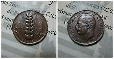 Vittorio Emanuele III 5 Centesimi Spiga 1935 spl