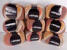 9 Balls Zitron Rondo Germany Wool Nylon Blend Yarn #800