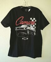 New w/Tag Black CHEVY CAMARO Graphics Logo L Tee Shirt Cotton