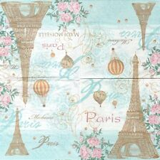 2 Serviettes en papier Toujours Paris Tour Eiffel Montgolfière - Paper Napkins