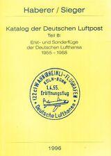 Haberer Erstflüge 1955-1968 Lufthansa first flights Germany eerste vluchten