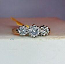 18ct GOLD 3 STONE DIAMOND  RING c.1/4 CARAT  - Size O 1/2  .......... A26