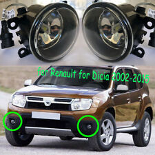 LED Bulb Fog Lights  Bumper Lamps Pair For Dacia Duster Sandero Logan 2004-2015