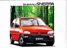 1990 SUBARU SHERPA VAN 4p Brochure REX