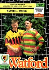 Watford v Arsenal programme, Friendly, August 1991, good condition