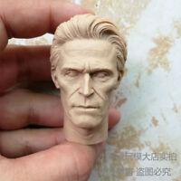 Free Shipping 1/6 scale Blank Head Sculpt Green Goblin Willem Dafoe unpainted AS