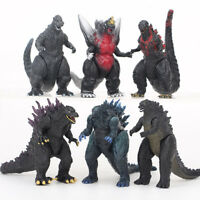 6pcs Godzilla Monsters 2014 Movie Godzilla Character Action Figures Collection
