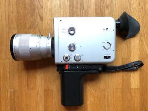 Super 8 Filmkamera Nizo S800 mit Ledertasche und Fernauslöser etc.