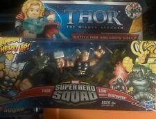 Hasbro Marvel Superhero Squad Thor Loki Destroyer Figures Battle Asgard's Vault