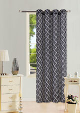 """2 PRINTED VOILE SHEER WINDOW GROMMET PANELS CURTAIN TREATMENT 2 TONE #S38 95"""""""