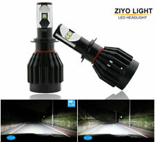 2 Bulbs H7 LED Headlight 6000K Super White High Power CREE Chip 9000LM Bulbs 80W