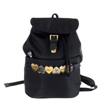 Vintage Moschino Heart Charm Dangle Large  Backpack.NFV5694