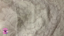 Home Decor Heavy Upholstery Tan Floral Textured Fabric by the Yard