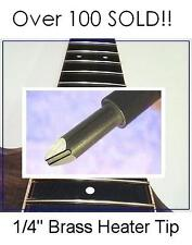 """AxeMasters 1/4"""" GROOVED FRET HEATER TIP Soldering Iron Guitar Luthier Tool"""