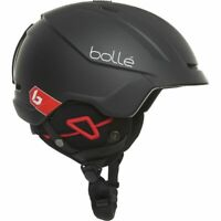 BOLLE Instinct Freeride Ski Helmet For Men - Matte Black Corp (51-54cm) Red Trim