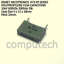 2 pezzi Condensatore in Polipropilene 10nF 630V Dc 300V Ac 5% Arcotronics R73