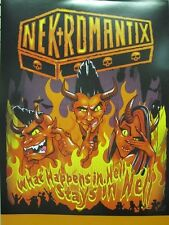 NEKROMANTIX 2011 What Happens in Hell promo poster Flawless New Old Stock