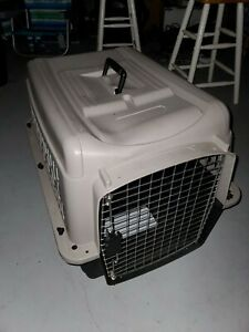 Large Pet Cage Dog Cat Travel Plastic Portable Kennel Safety Carrier Heavy Duty