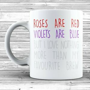 Anti Valentine's Day Poem Mug Novelty Ceramic Funny Gift Joke Present Love