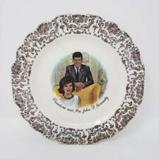 "Vintage President and Mrs. John F. Kennedy Collector Plate 6 5/8"" Diameter"
