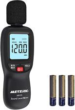 Sound Level Meter,Meterk 30-130dBA LCD Noise Meter Tester Noise Volume Measuring