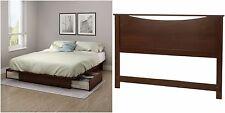 Cherry 2 Piece 2-Drawer Full/Queen Storage Platform Bed Home Bedroom Furniture