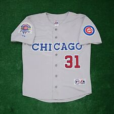 Greg Maddux Chicago Cubs w/ 1990 All Star Patch Grey Road Men's Jersey