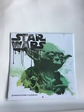 "2018 WALL CALENDAR- STAR WARS  10"" x 10""- NEW IN PACKAGE"
