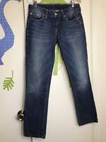 Lucky Brand Women's Dark Wash Straight Leg Jeans Sz 4/27 Altered Hem