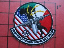 ORIGINAL AIR FORCE PILOT SQUADRON PATCH USAF 501 EOG EXPEDITIONARY 493 FS ITALY