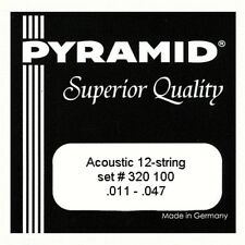 Pyramid 12 string acoustic guitar strings, silver copper wire