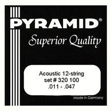 Pyramid 12-saitige Acoustic Gitarre Saiten, versilbertem Kupferdraht