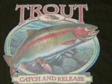 Rainbow TROUT Catch & Release T-Shirt Fishing .. MEDIUM