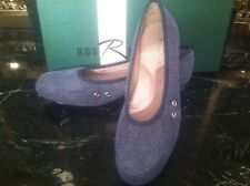 Ros Hommerson NEW Marci Womens Blue Denim 6.5 N Jean Chambray Suede Shoes