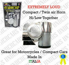 New Air Horn Compact Super Loud Blast Dual Tone Kit Universal Horns