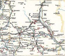 Völkermarkt St-Andrä Wolfsberg 1910 Radfahrer-Karte/Ln Bleiburg Lavamünd Griffen