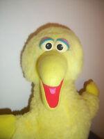 "Vintage Big Bird Sesame Street Plush Fuzzy 14"" Muppets Jim Henson Disney"